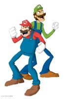 mario bros by striffle