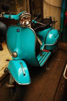 vespa- turquoise by phedigree