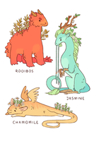 Tea Dragons by strangelykatie