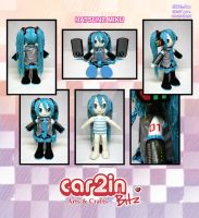 Hatsune Miku Doll--OOAK by car2in-bitz