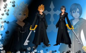 Roxas and Xion wallpaper by RoxasTsuna
