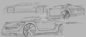 sports car by magao