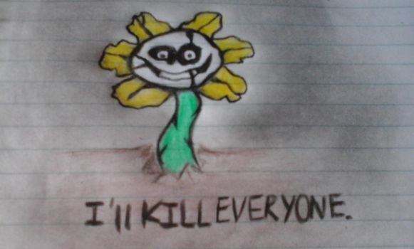 Flowey the flower  by Catatominx