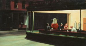 Edward Hopper - Nighthawks by muzski
