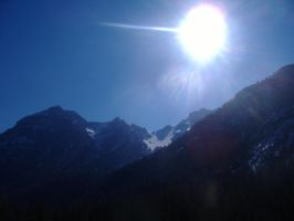 Rising sun on the Alps by KiraraLover