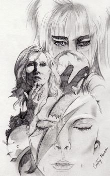 David Bowie Drawing by passiononpaper