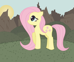 Doodle: Fluttershy On a Hill by Zoofie