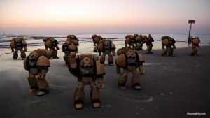 3D Space marines  Cadiz Beach by dspcreativity