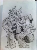 Canned and Richy as Sam and Max by Vi11age1diot