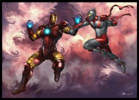 Ironman VS Ultraman by thiennh2