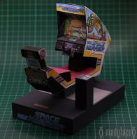 Space Harrier Paper model by Wadyface