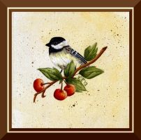 Acrylic Chickadee by Jedi-With-Wings
