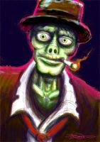 Stubbs the zombie speed paint by memoriesofnam