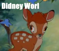 Bambi supports Didney worl by CrazyFunGirl2