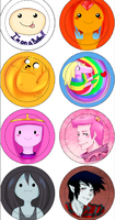 Adventure Time Buttons by Leefuu