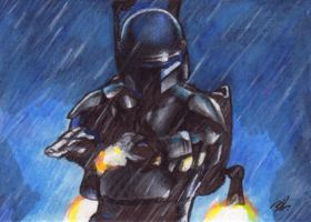 Jango Fett Sketch Card by Ethrendil