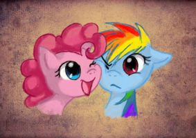 Colourful friendship by Jack-a-Lynn