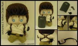 Uncharted 3: Nathan Drake Plush by StitchedAlchemy