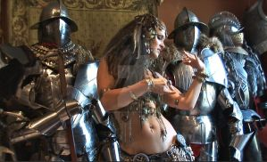 Pagan with Knights by HotMedievalBabes