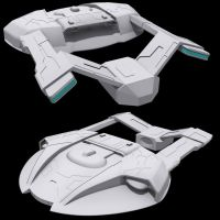 Star Trek Steamrunner 3D WIP by AdamKop