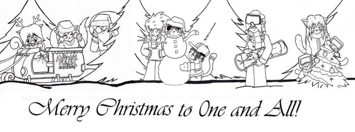 Christmas 2016 - lineart by Catboy-Trades