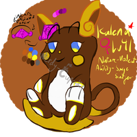 Kalena The Shiny Alolan Raichu by Nerdy-Cupcake