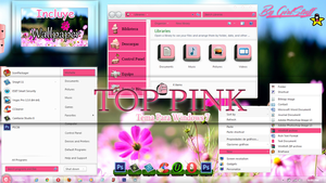 TOP PINK Theme Windows 7 n.n by girlstuff15