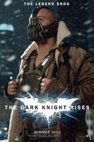 The Dark Knight Rises Bane movie poster by DComp