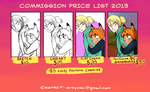 Commission Price List 2013 by alexyoshida