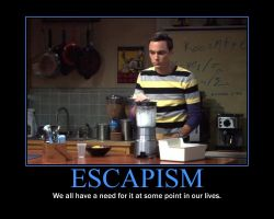 Escapism Motivational Poster by QuantumInnovator