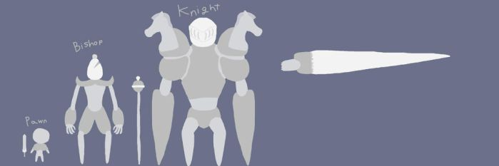 Sir Whites Golems pt 1 [ Pawn, Bishop Knight ] by EnderSkyLord