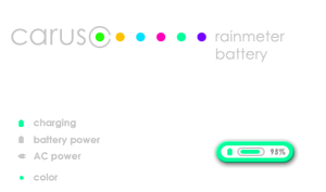 caruso rainmeter battery by Leuchtstoff