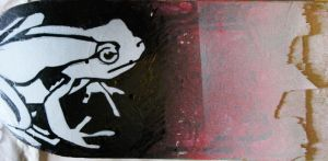 Frog Stencil by Bennedetto