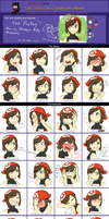Expressions Meme - Nuzlocke Protag by cosmicpants