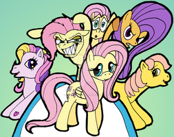 Fluttershy and... others? by AdolfWolfed4Life