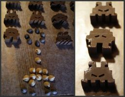 Chocolate Invaders: Detail by Pawkeet