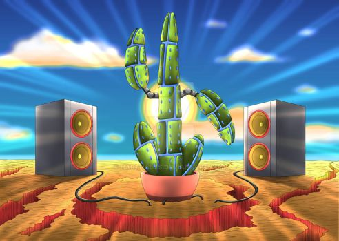 Dancing Disco Cactus by Harthalys
