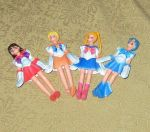 Small Sailor moon Figures with Plastic Clothes by avaneshop