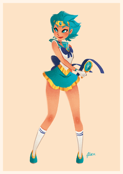 Sailor Neptune by XnBook