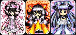 Contest: ACEO: Dark-haired girls by valurauta
