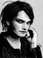 Portrait training 8 - Gerard Way 2 by Tyfflie