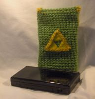 Triforce DS Lite case by PerilousBard