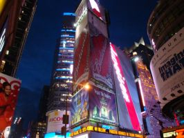 Times Square - 42nd Street by wingsofdragons