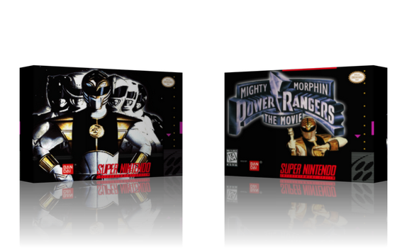 SNES Mighty Morphin Power Rangers The Movie Cover by ShoguN86