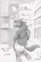 werewolf fridge raid transformation by wherewolfe