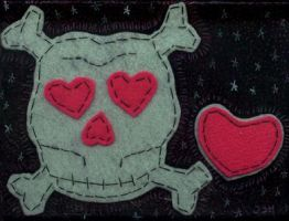 13a heart skull and crossbones by atomikheart