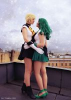 Sailor Uranus and Sailor Neptune by Vaishravana