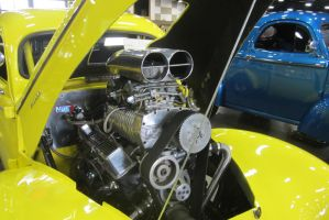 41 willys pickup 355 chevy engine by zypherion