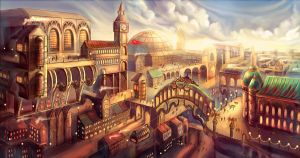 Steam Punk City by MargaTarna