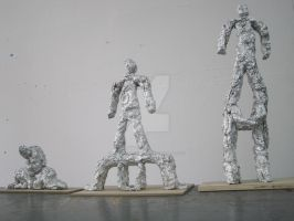 Transitional Figure Sculptures by guilty-bystander